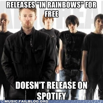 free,In Rainbows,radiohead,spotify