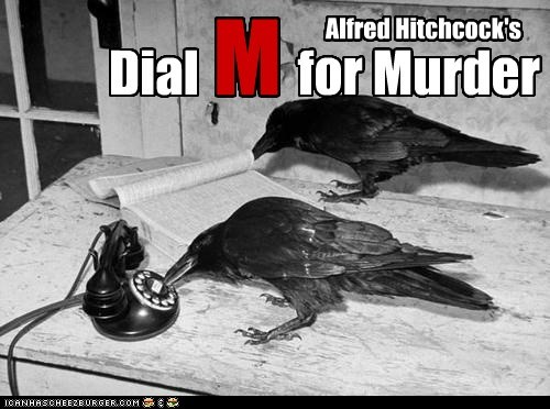 alfred hitchcock,crows,murder,phone