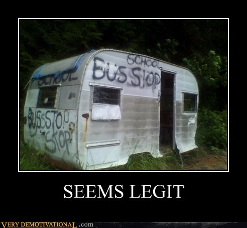 bus stop,hilarious,seems legit,trailers
