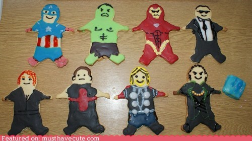 avengers,characters,cookies,epicute,icing