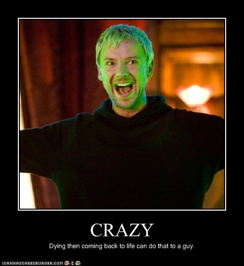 coming back,crazy,doctor who,dying,insane,john simm,life,the master