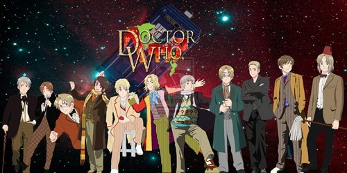 anime,best of week,crossover,doctor who,FanArt,hetalia,scifi