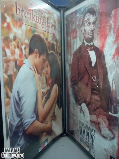 abraham lincoln,movies,pop culture,poster,vampires