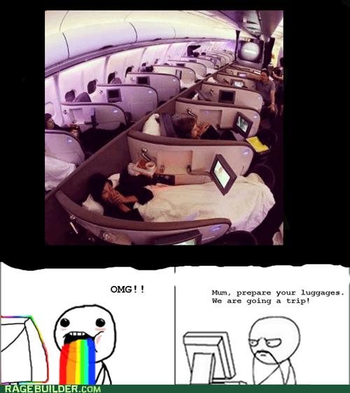 plane,puke rainbows,Rage Comics,trip