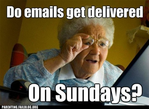 computers,emails,grandma,sundays