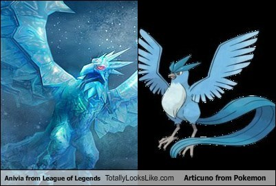 Anivia from League of Legends Totally Looks Like Articuno from Pokemon