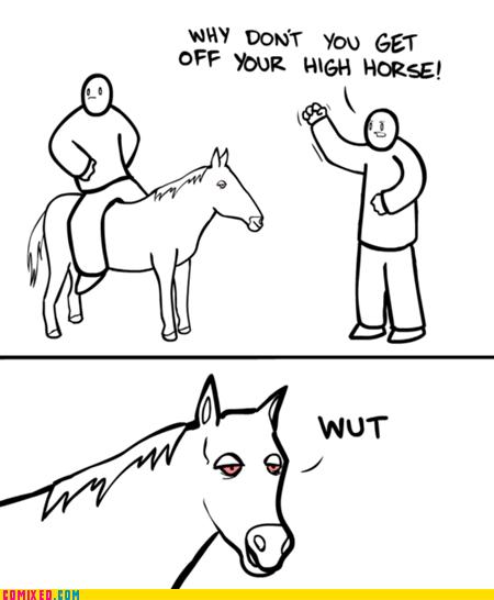 high horse,pun,stoner,the internets