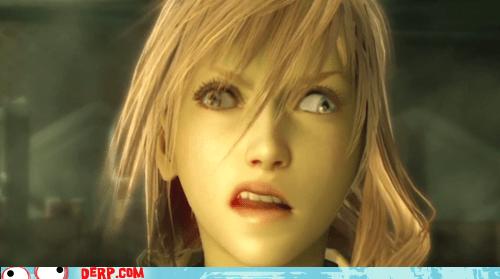derp,final fantasy xiii,lightning,video game