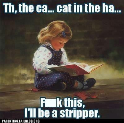 book,cat in the hat,reading,stripper