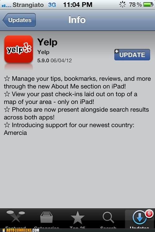 amercia,america,Mitt Romney,typos,update,yelp
