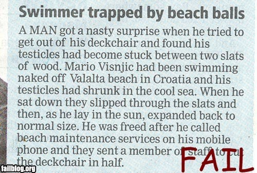 Beach Relaxation FAIL