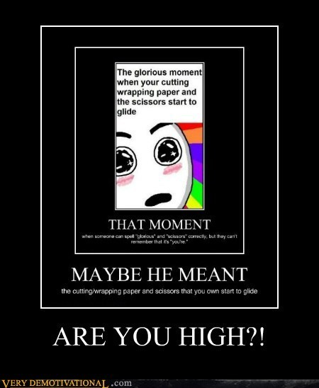 ARE YOU HIGH?!