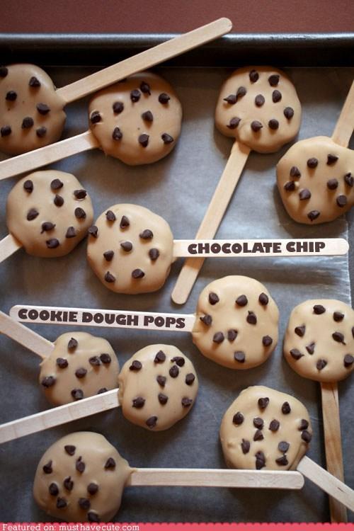 chocolate chips,cookies,dough,epicute,pops,Truffles