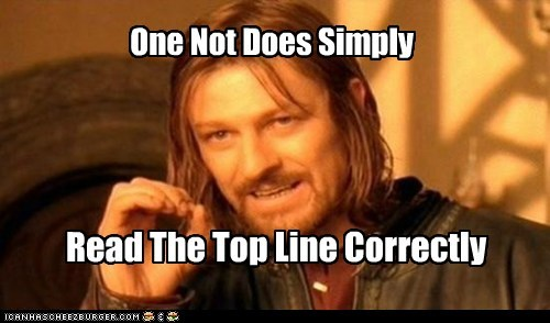 Boromir,correctly,double check,Lord of The Ring,Lord of the Rings,one does not simply meme,read