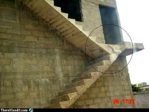 Okay, Who Let Genius Guy Design the Stairs?