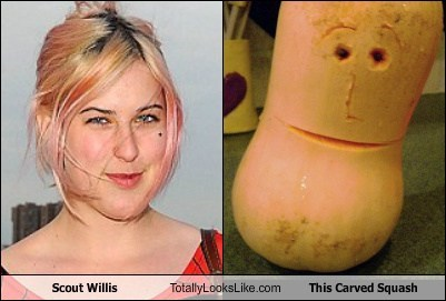 Scout Willis Totally Looks Like This Carved Squash