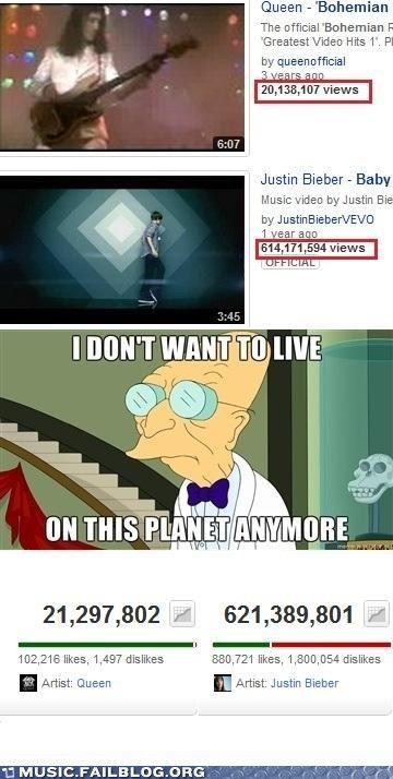 i-dont-want-to-live-on-t,i dont want to live on this planet anymore,justin bieber,queen,views,youtube