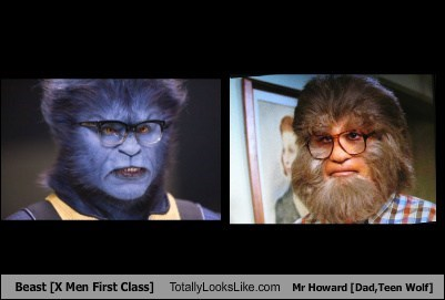 Beast [X Men First Class] Totally Looks Like Mr Howard [Dad From Teen Wolf]