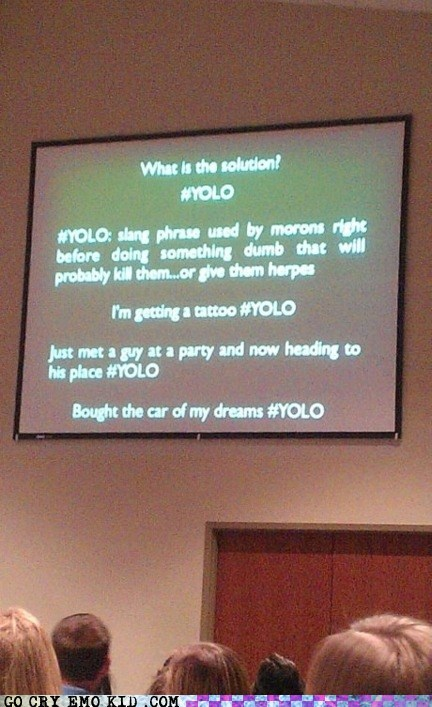Giving a Presentation #YOLO