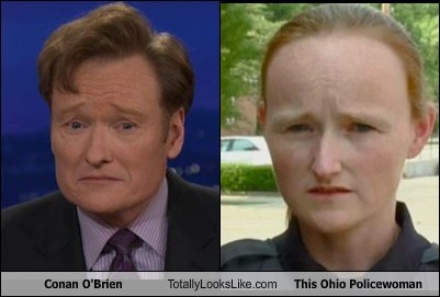 Conan O'Brien Totally Looks Like This Ohio Policewoman
