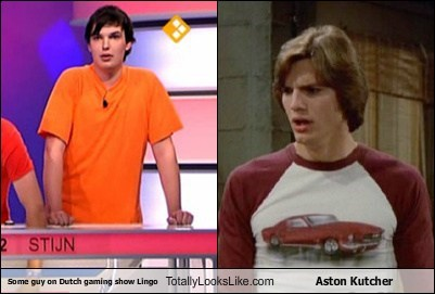 Some guy on Dutch gaming show Lingo Totally Looks Like Aston Kutcher
