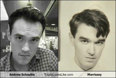 Andrew Schoultis Totally Looks Like Morrissey