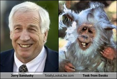 Jerry Sandusky Totally Looks Like Teek from Ewoks