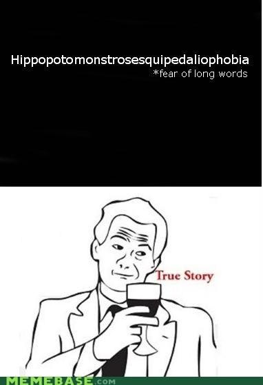 dictionary,fear,long,Memes,phobia,true story,words