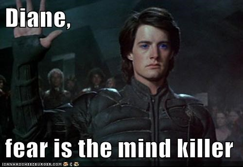 agent cooper,diane,Dune,fear,killer,kyle maclachlan,mind,paul atreides,Twin Peaks