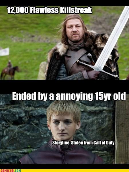 call of duty,Game of Thrones,kill streak,ned stark,TV