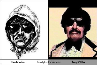 Ted Kaczynski (Unabomber) Totally Looks Like Andy Kaufman as Tony Clifton