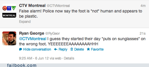 Failbook: Montreal Does Not Appreciate Your CSI Jokes