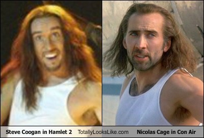 Steve Coogan in Hamlet 2 Totally Looks Like Nicolas Cage in Con Air