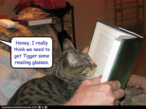 He's getting nose prints on the pages, again.