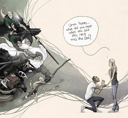 books,FanArt,Lord of the Rings,marriage,movies,ring