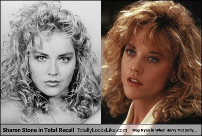 Sharon Stone in Total Recall Totally Looks Like Meg Ryan in When Harry Met Sally...