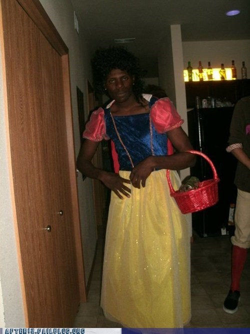 Snow White Girl Black Guy Wasted