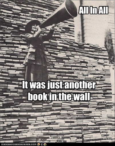 books,historic lols,megaphone,pink floyd,wall