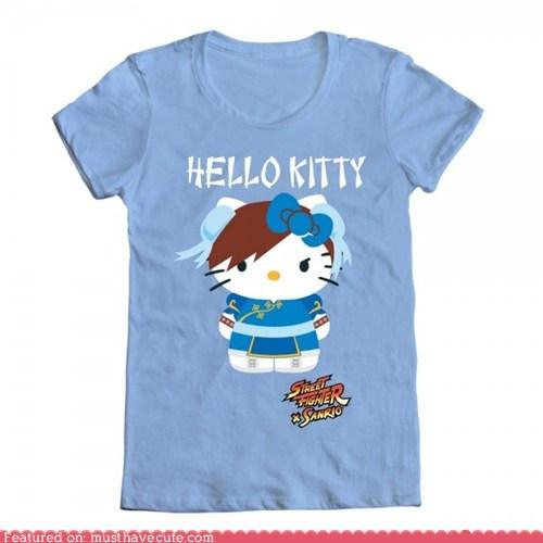 cosplay,hello kitty,Street fighter,T.Shirt