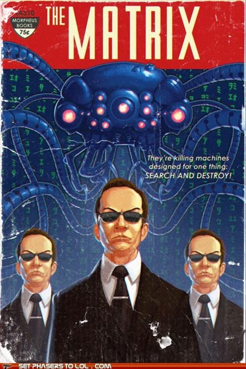 agent smith,FanArt,novel,pulp fiction,science fiction,the matrix