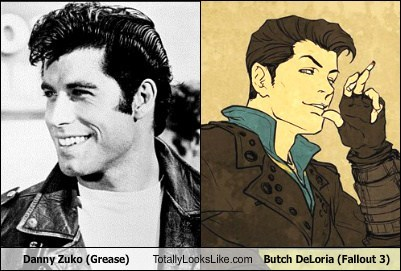 Danny Zuko (John Travolta in Grease) Totally Looks Like Butch DeLoria (Fallout 3)