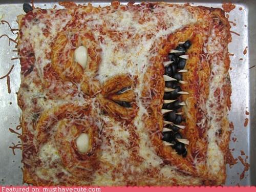 face,human skin,necronomicon,pizza