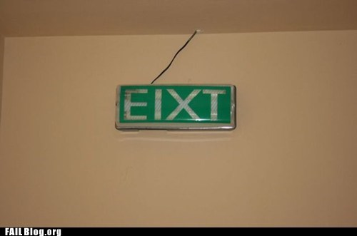 exit,sign