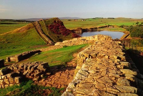 Ancient Hadrians Wall, Northumbria, England