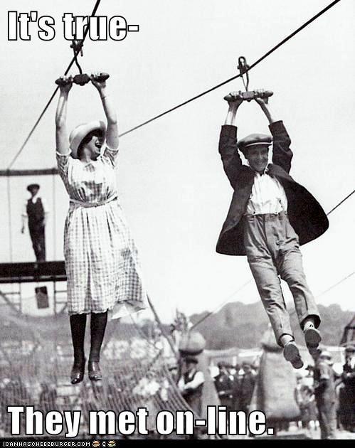 date,man,romance,theme park,woman,zip line