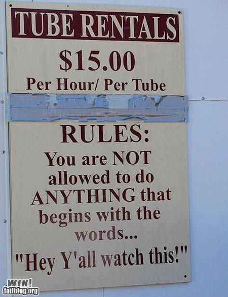 WIN!: Tube Rules WIN