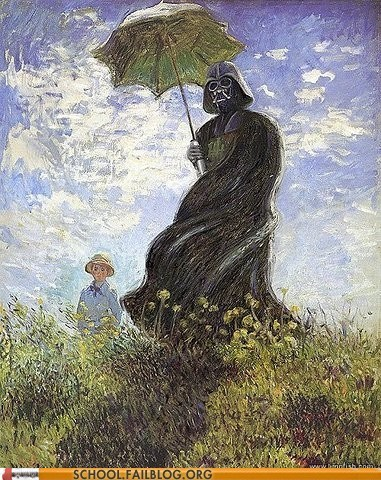 Art History 402: Darth Vader Did a Lot of Posing In His Early Years