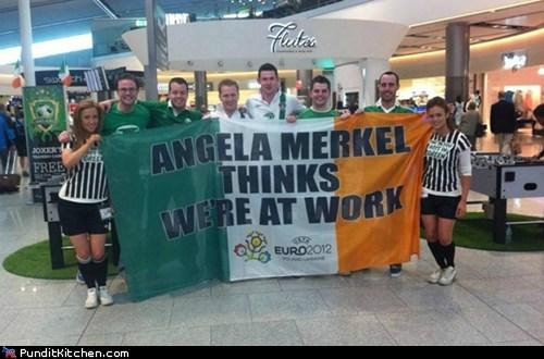 angela merkel,euro 2012,europe,football,Ireland,political pictures,soccer