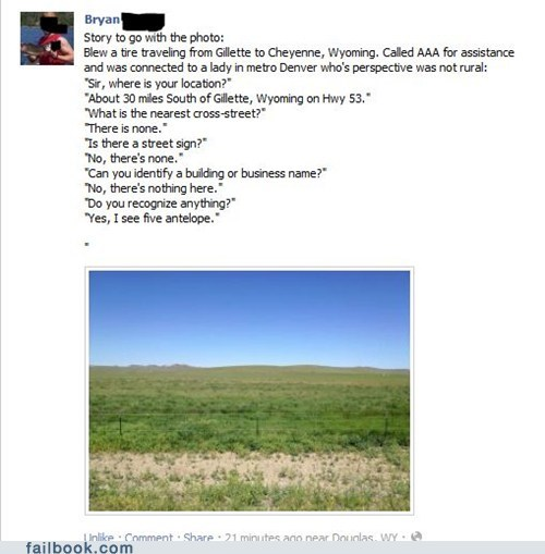 Failbook: No, Wait, the Antelope Ran Away