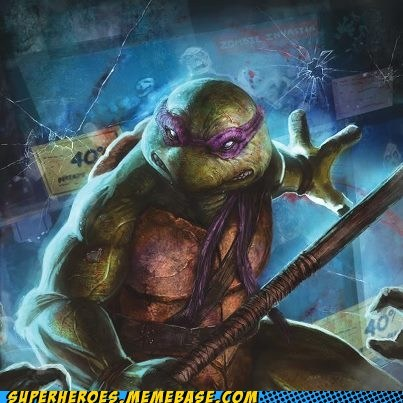 Donatello Really Hates Zombies